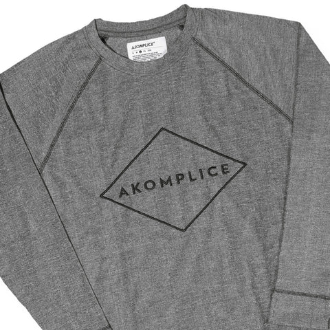 Akomplice - 'Sport Gray Raglan' [(Dark Gray) Long Sleeve Shirt]