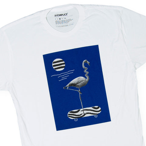 Akomplice - 'Wavy Flamingo' [(White) T-Shirt]