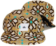 <!--020130604057075-->Akomplice - 'Digi Flower' [(Light Brown) Five Panel Camper Hat]