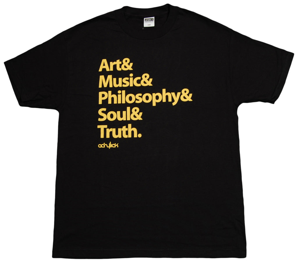 <!--2012121805-->Acrylick - 'Roll Call - Black/ Gold' [(Black) T-Shirt]