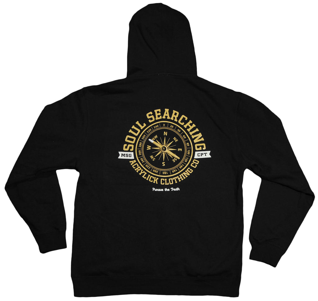 <!--2012030657-->Acrylick - 'Compass' [(Black) Hooded Sweatshirt]