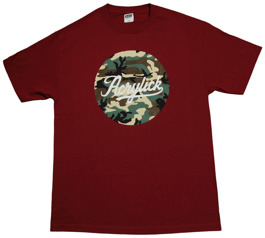 <!--2013051457-->Acrylick - 'Woodland Script' [(Dark Red) T-Shirt]