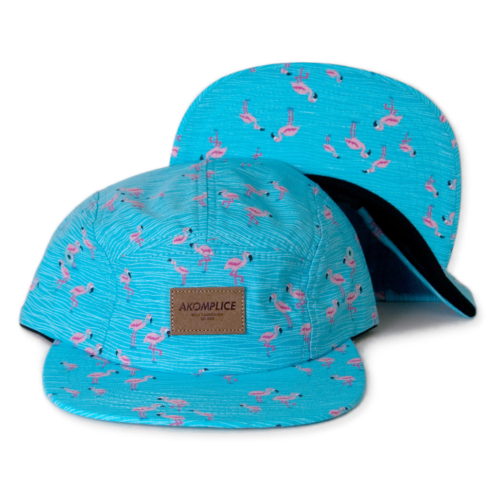 <!--020140227062847-->Akomplice - 'Lil Flamingo Jump' [(Light Blue) Five Panel Camper Hat]
