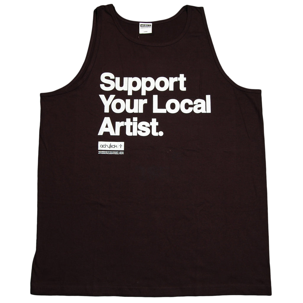 <!--2012071011-->Acrylick - 'Support Locals' [(Black) Tank Top]