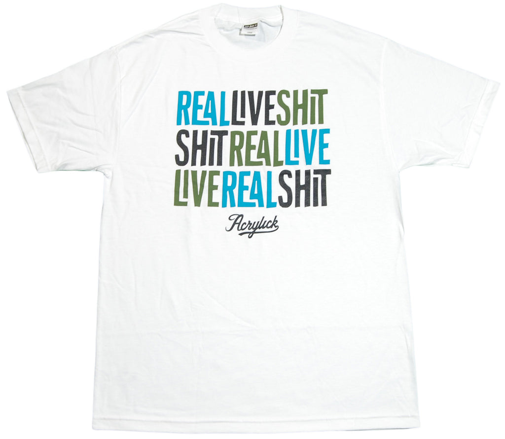 <!--2012071059-->Acrylick - 'Real Live' [(White) T-Shirt]
