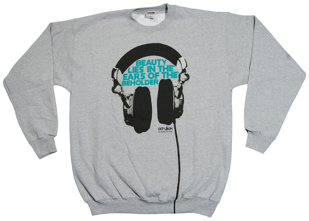 <!--2012111348-->Acrylick - 'Beauty Beholder' [(Gray) Crewneck Sweatshirt]