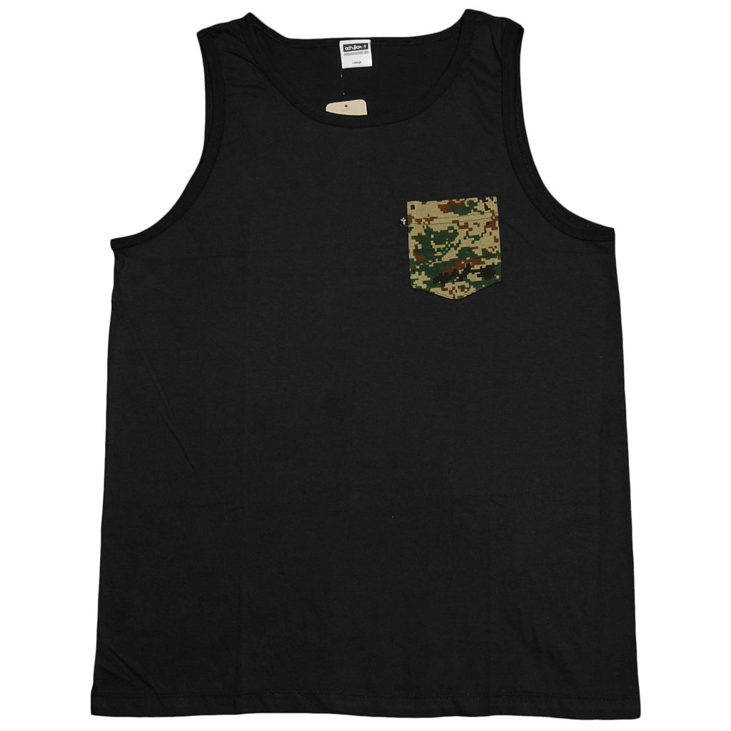 <!--2012111358-->Acrylick - 'Pocket Tank' [(Black) Tank Top]