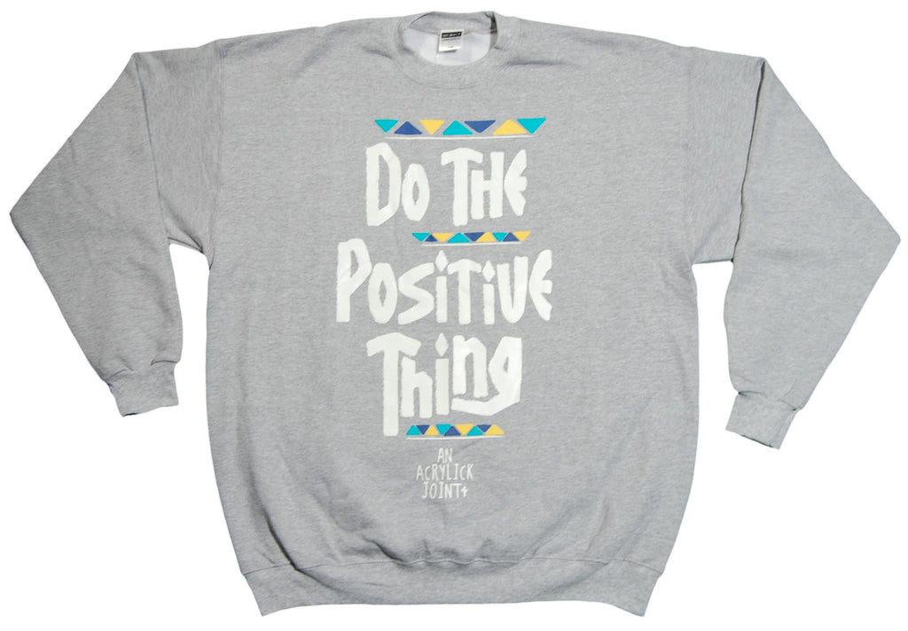 <!--2012121829-->Acrylick - 'Positive Thing v.2' [(Gray) Crewneck Sweatshirt]