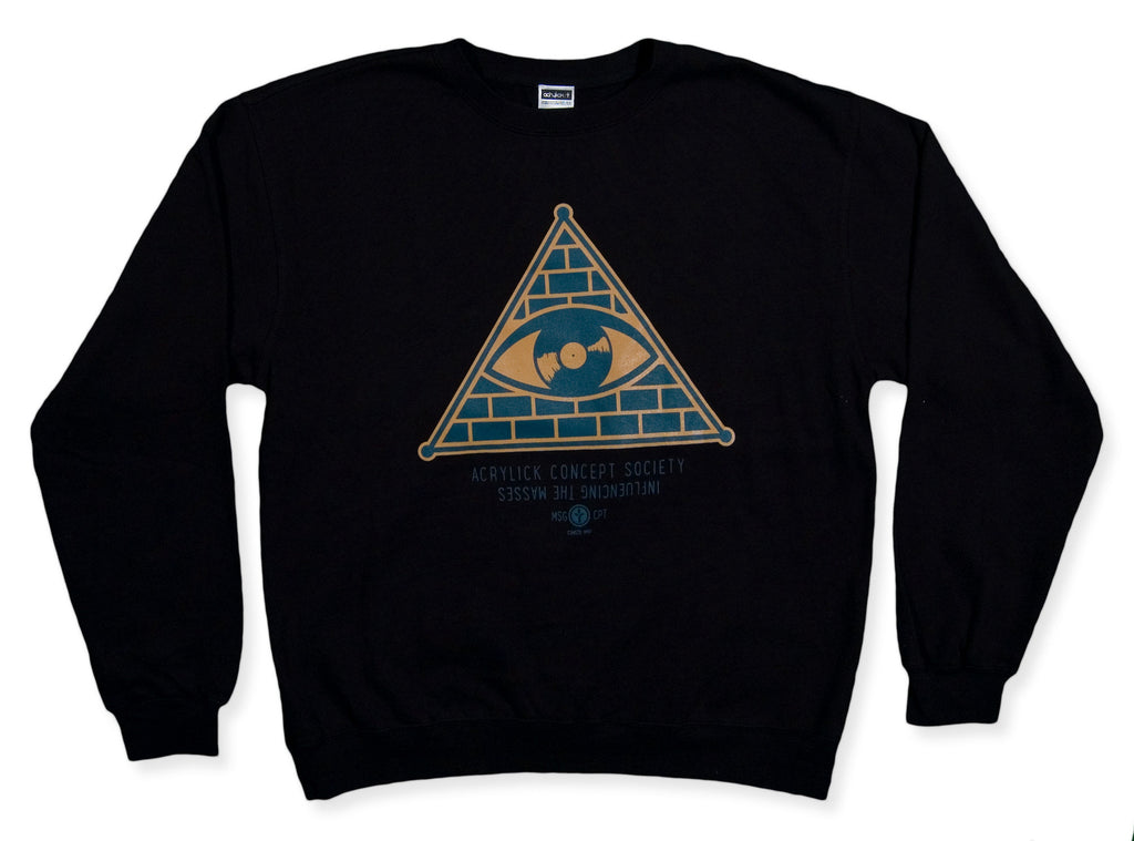 <!--2013112616-->Acrylick - 'All Seeing Eye' [(Black) Crewneck Sweatshirt]
