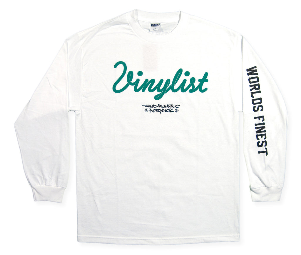<!--2013112657-->Acrylick x Thud Rumble Records - 'Vinylist' [(White) Long Sleeve Shirt]