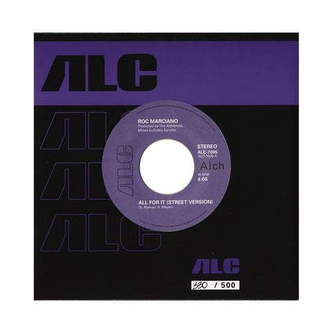 "Roc Marciano - 'All For It (ALL PRE-ORDERS CLAIMED!)' [(Black) 7"" Vinyl Single]"
