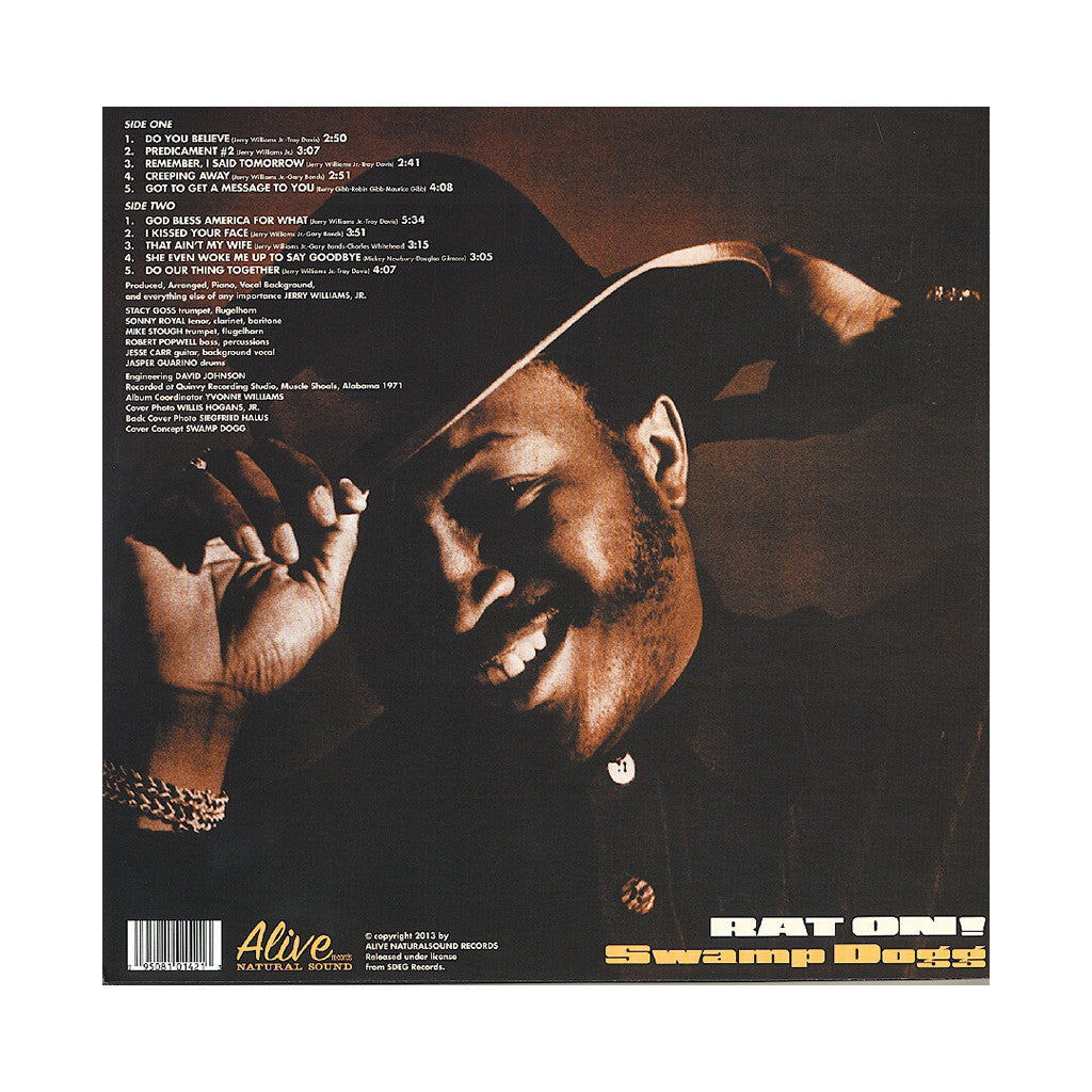 <!--120130305053516-->Swamp Dogg - 'Rat On!' [(Black) Vinyl LP]