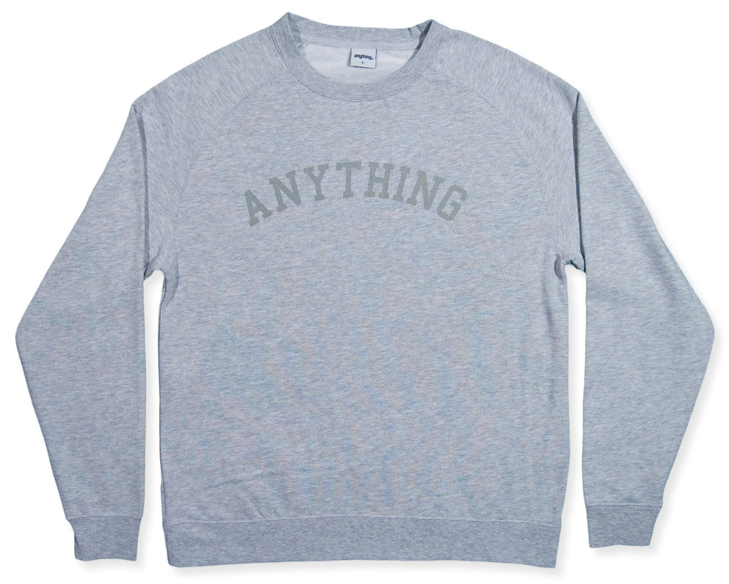 <!--2013120551-->aNYthing - 'Princeton' [(Gray) Crewneck Sweatshirt]