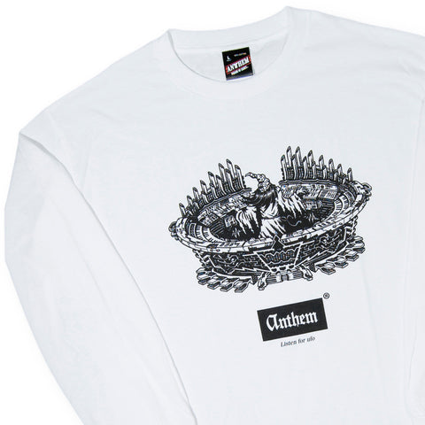 ANTHEM - 'Wiz At The Controls' [(White) Long Sleeve Shirt]