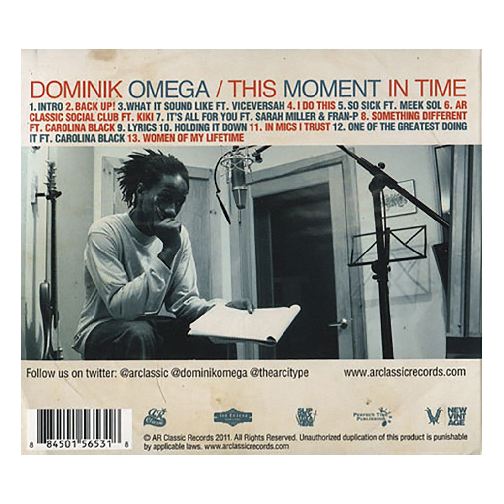 <!--120110719033426-->Dominik Omega - 'This Moment In Time' [CD]