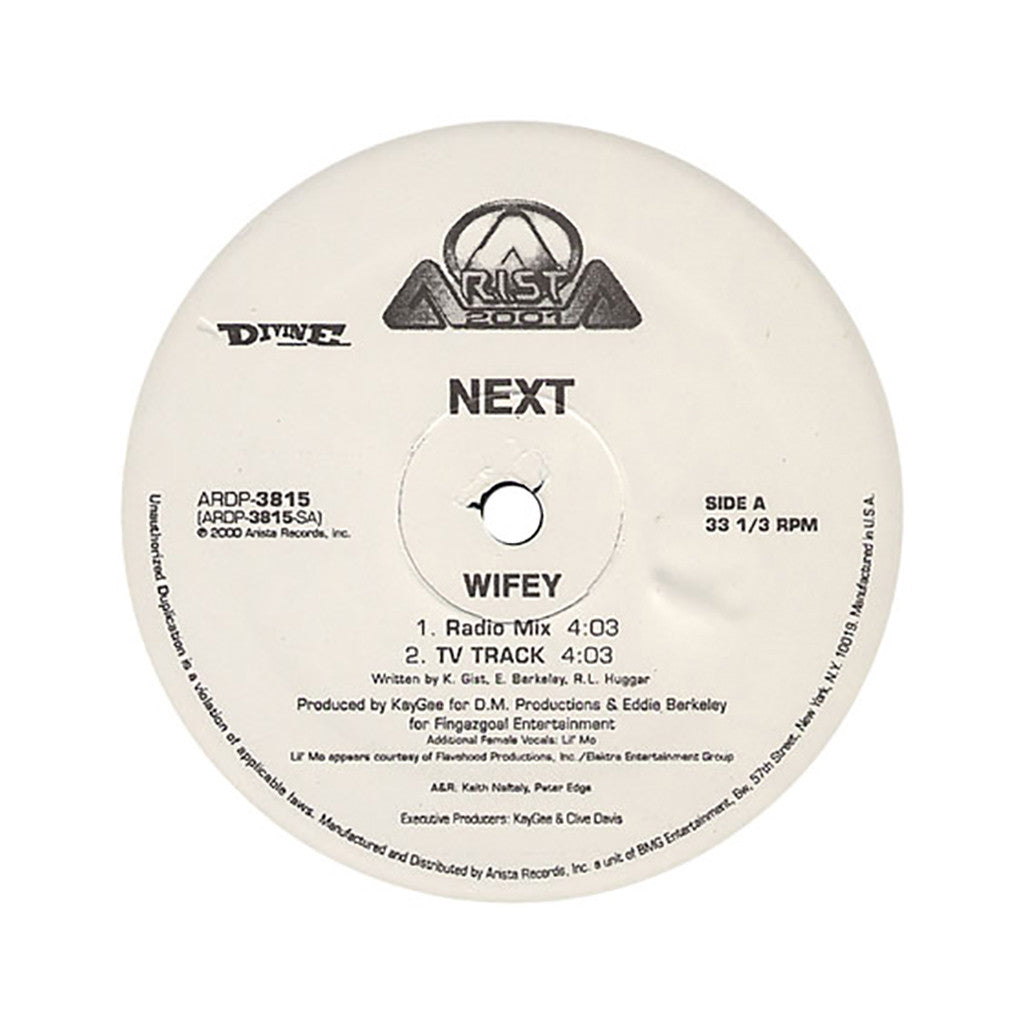 "<!--020000101007436-->Next - 'Wifey/ Jerk' [(Black) 12"" Vinyl Single]"