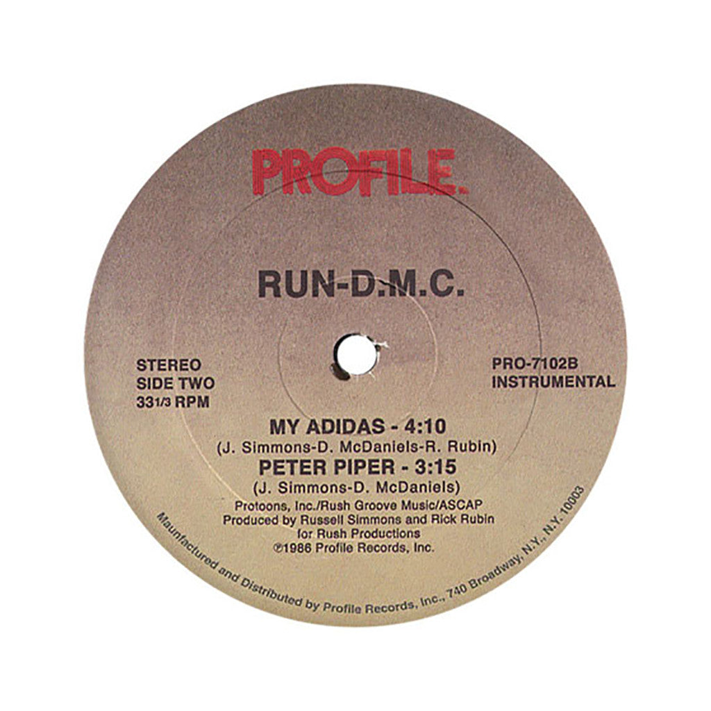 "<!--1996010157-->Run D.M.C. - 'My Adidas/ Peter Piper' [(Black) 12"" Vinyl Single]"