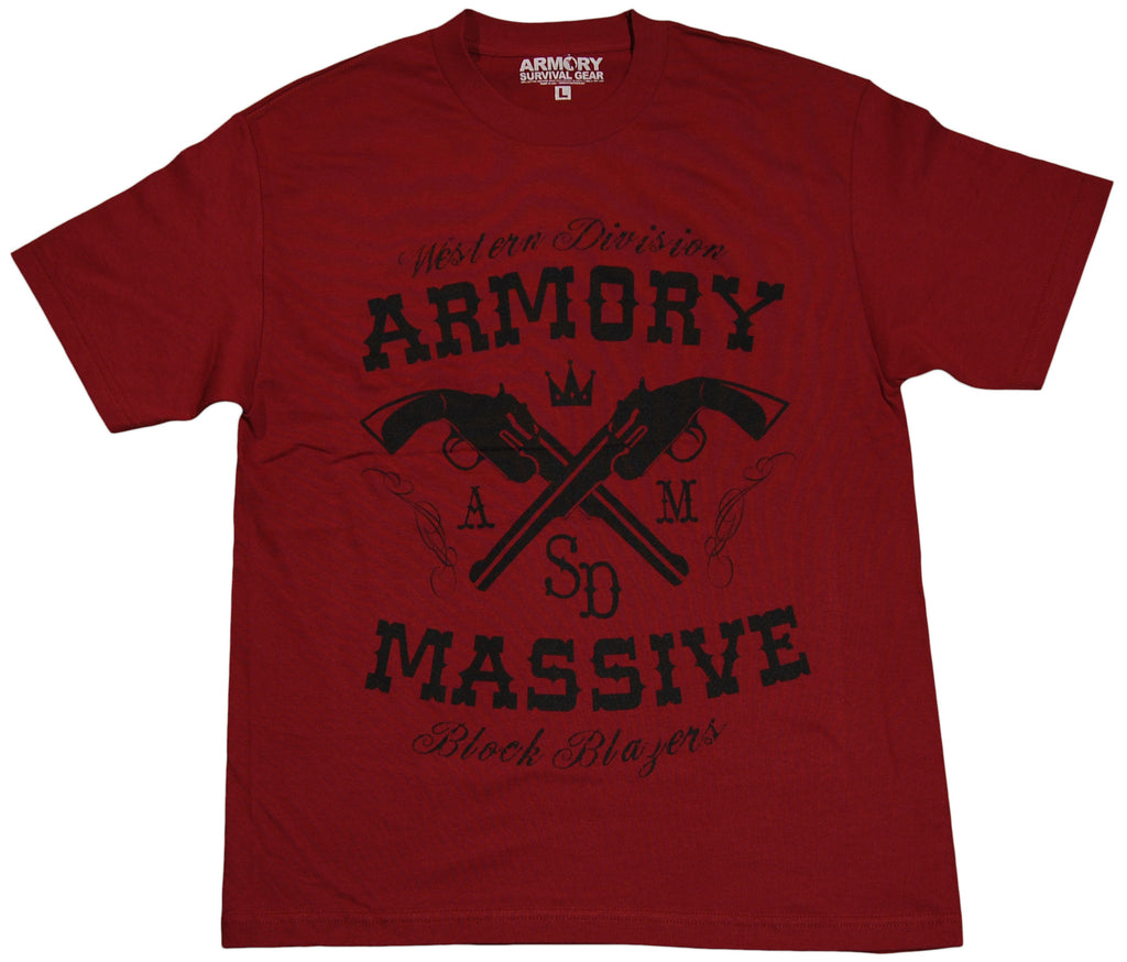 <!--2011083017-->Armory Survival Gear - 'Destroyers' [(Dark Red) T-Shirt]