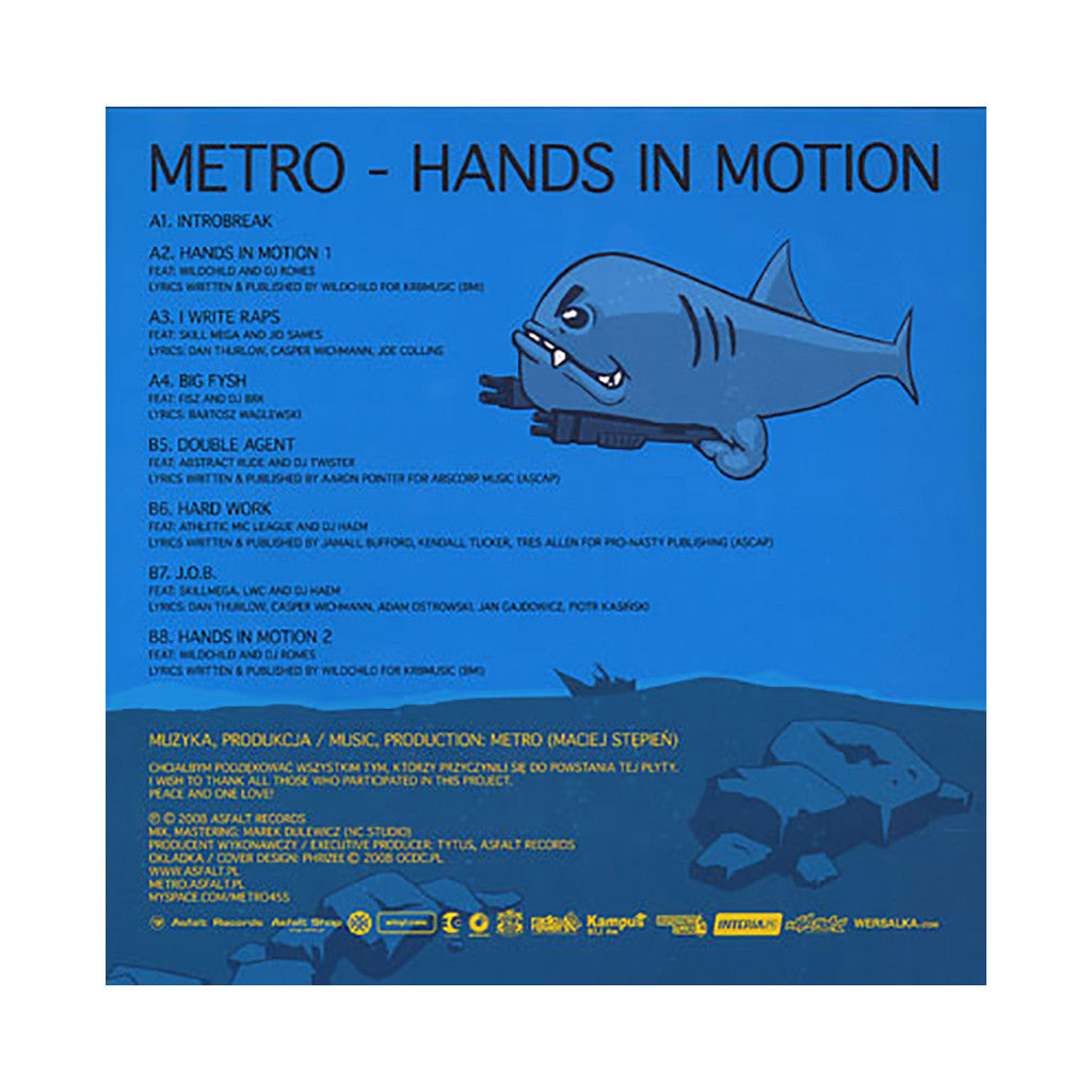 <!--020080122015596-->Metro - 'Hands In Motion' [(Black) Vinyl LP]