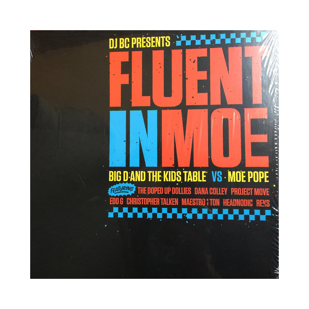 DJ BC Presents Big D And The Kids Table vs. Moe Pope - 'Fluent In Moe' [(Black & Blue Splatter) Vinyl LP]