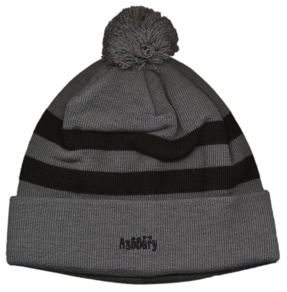 <!--2012100239-->Ashbury Eyewear - 'Stripe Beanie' [(Gray) Winter Beanie Hat]