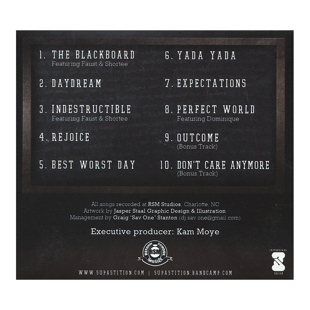 <!--020130521057159-->Supastition - 'The Blackboard EP' [CD]