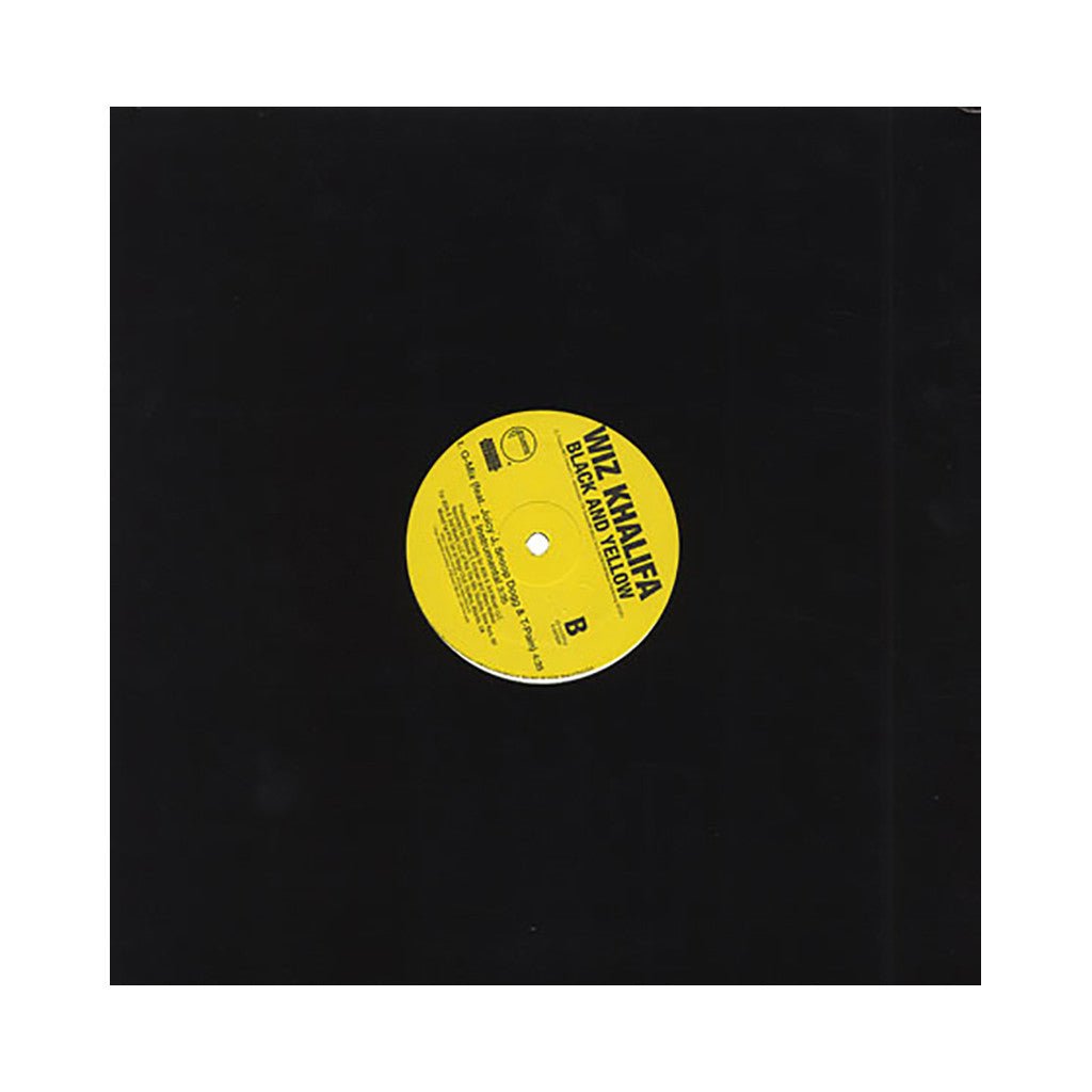 "<!--2011020823-->Wiz Khalifa - 'Black And Yellow/ Black And Yellow (G-Mix)' [(Black) 12"" Vinyl Single]"