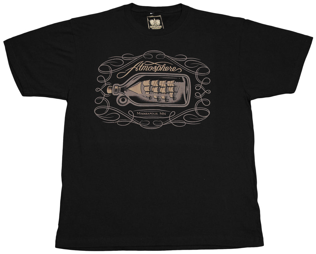 <!--2012022110-->Atmosphere - 'Ship In A Bottle' [(Black) T-Shirt]