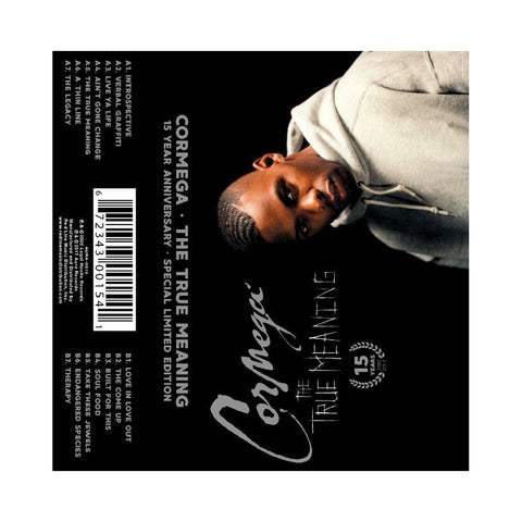 "[""Cormega - 'The True Meaning (15 Year Anniversary)' [(Clear) Cassette Tape]""]"