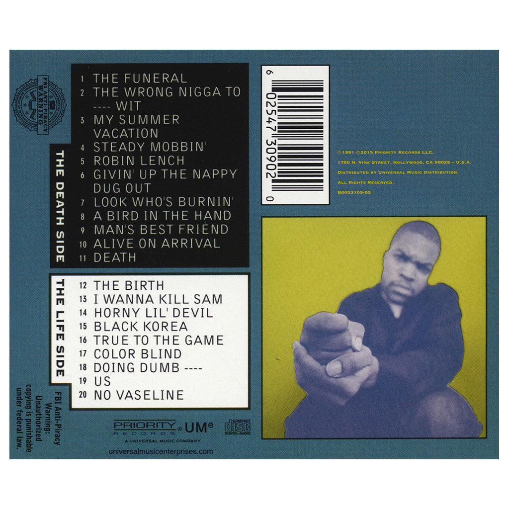 Ice Cube Death Certificate Cd Cover Art Producers Tracklisting