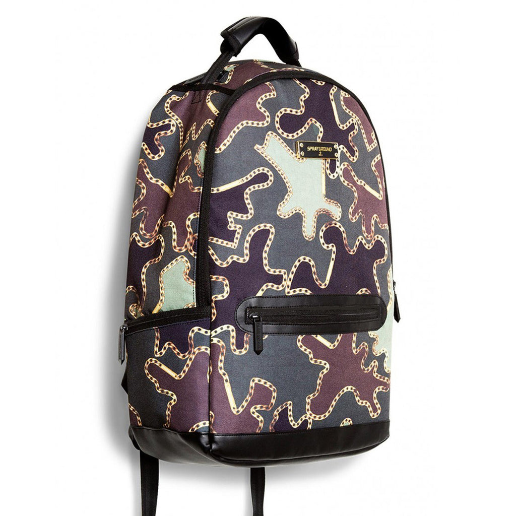 <!--020130730058486-->Sprayground - 'Camo Chains' [(Camo Pattern) Backpack]
