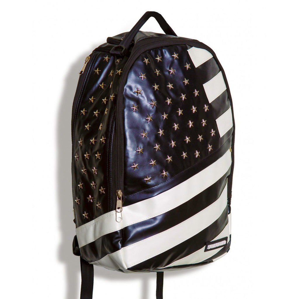 <!--020130730058477-->Sprayground - 'Star Studded Flag' [(Black) Backpack]
