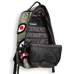 <!--020130730058485-->Sprayground - 'Chenille Multi-Cam Shark' [(Camo Pattern) Backpack]