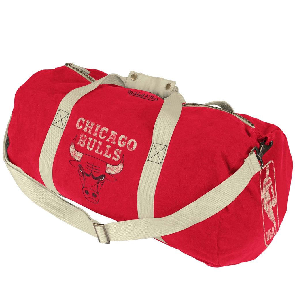 <!--020120918049013-->Mitchell & Ness x NBA - 'Chicago Bulls - NBA Washed Canvas Bag' [(Red) Duffel Bag]