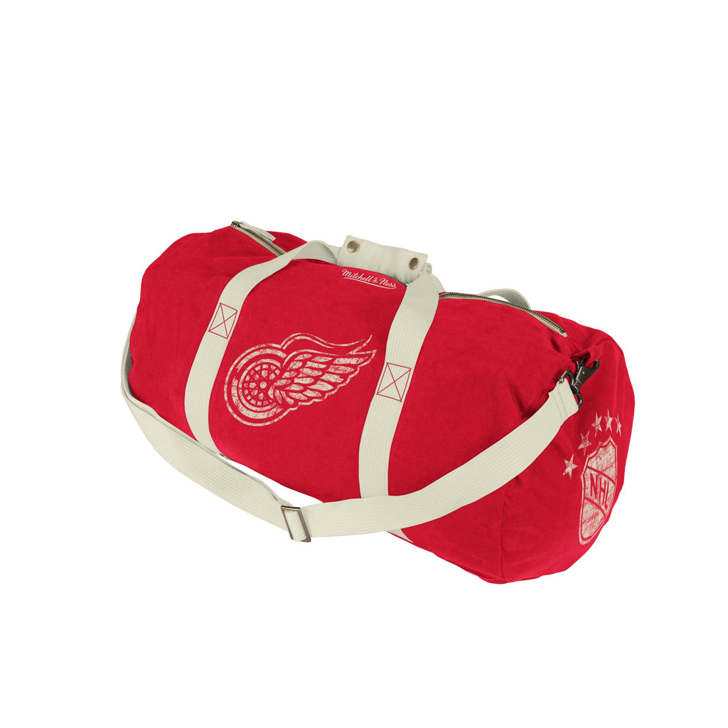 <!--020130326055162-->Mitchell & Ness x NHL - 'Detroit Redwings - NHL Washed Canvas Bag' [(Red) Duffel Bag]