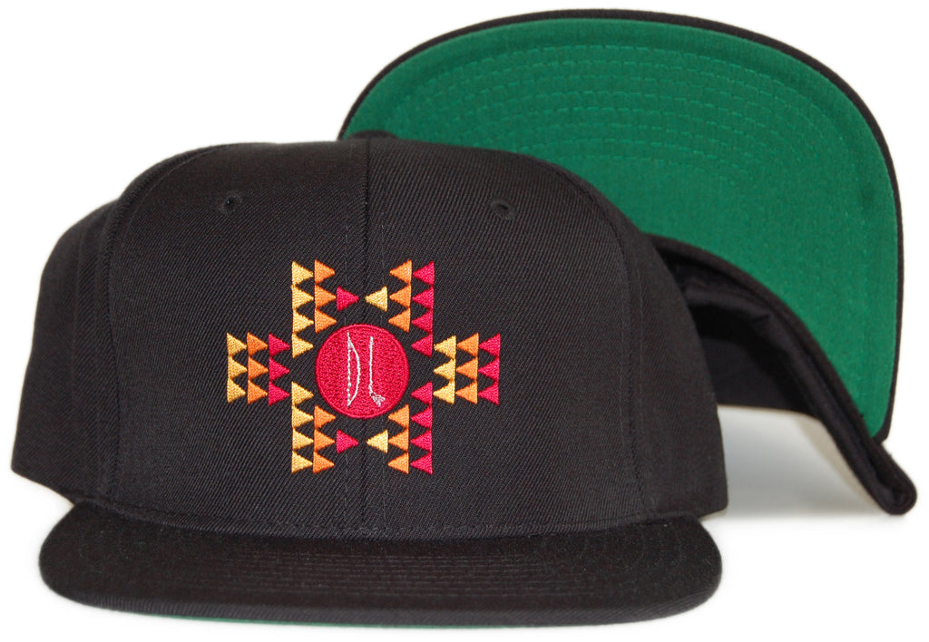 <!--020111213039624-->Bow+Arrow - 'Aztec - Red/ Yellow/ Orange' [(Black) Snap Back Hat]
