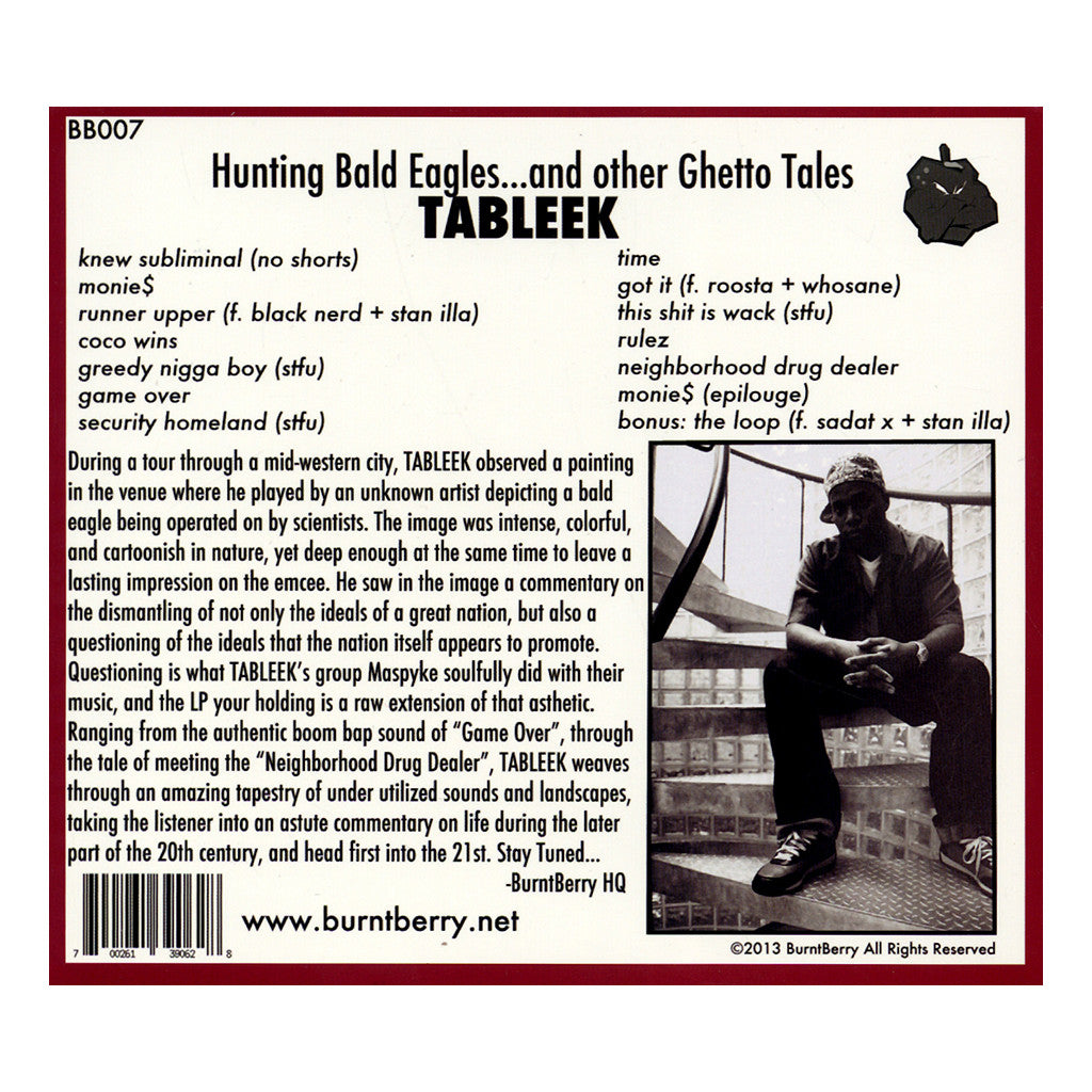<!--120140121061775-->Tableek - 'Hunting Bald Eagles... And Other Ghetto Tales' [CD]