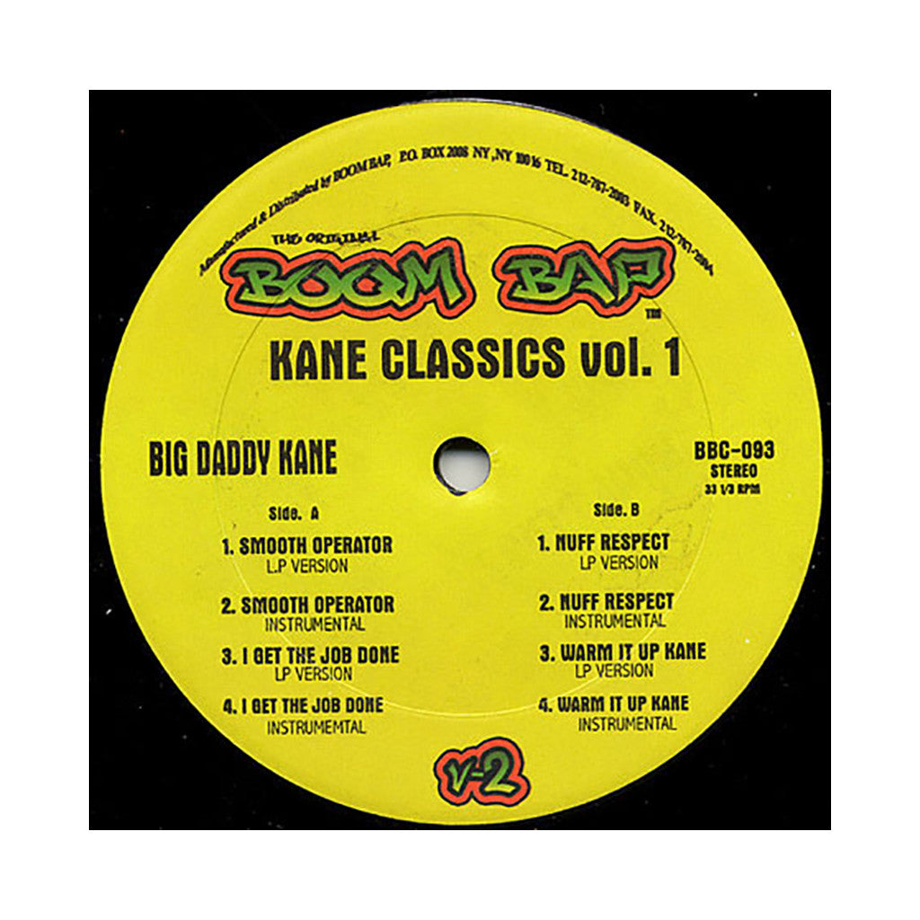 "<!--2008052732-->Big Daddy Kane - 'Smooth Operator/ I Get The Job Done/ Nuff Respect/ Warm It Up Kane (Kane Classics Vol. 1)' [(Black) 12"" Vinyl Single]"