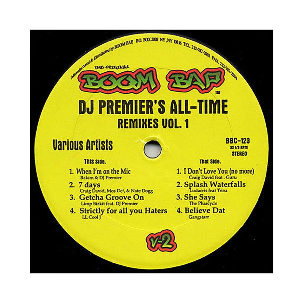 "<!--020080527013930-->DJ Premier Presents - 'All-Time Remixes Vol. 1' [(Black) 12"""" Vinyl Single]"