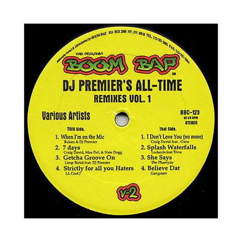 "[""DJ Premier Presents - 'All-Time Remixes Vol. 1' [(Black) 12\"" Vinyl Single]""]"