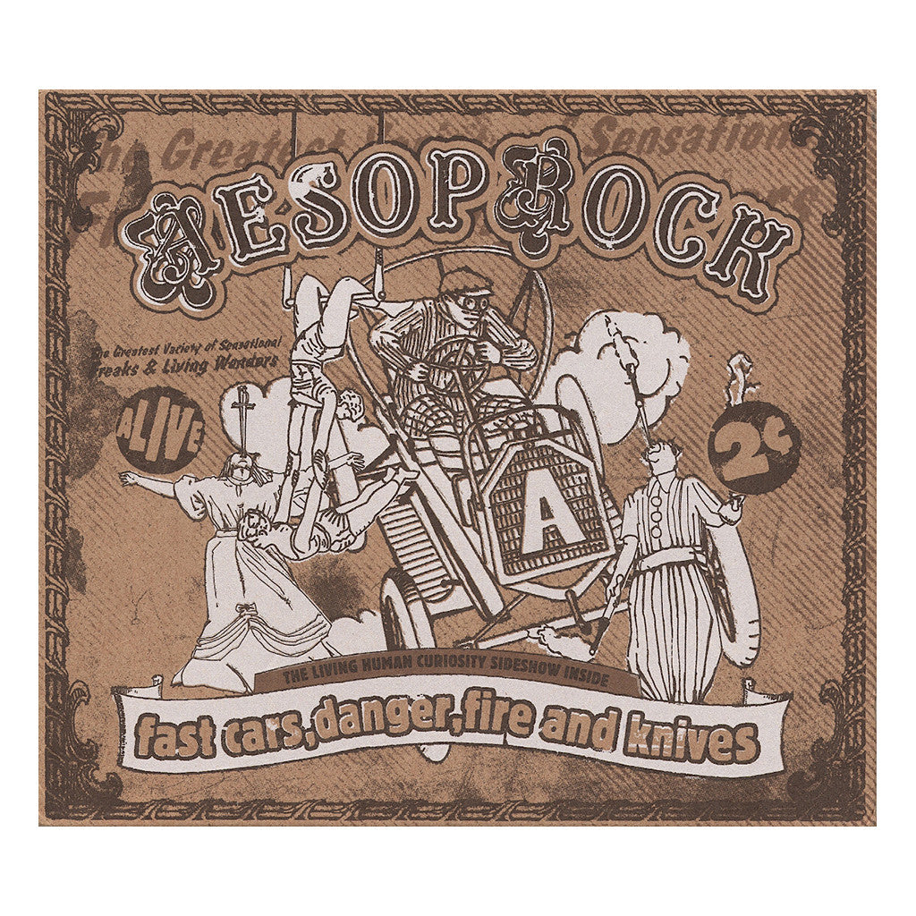 <!--120110503004845-->Aesop Rock - 'Fast Cars, Danger, Fire And Knives (ReIssue w/ 88 Page Book Of Lyrics)' [CD]