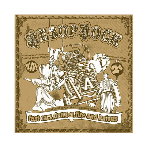 "[""Aesop Rock - 'Fast Cars, Danger, Fire And Knives (Re-Issue)' [CD]""]"