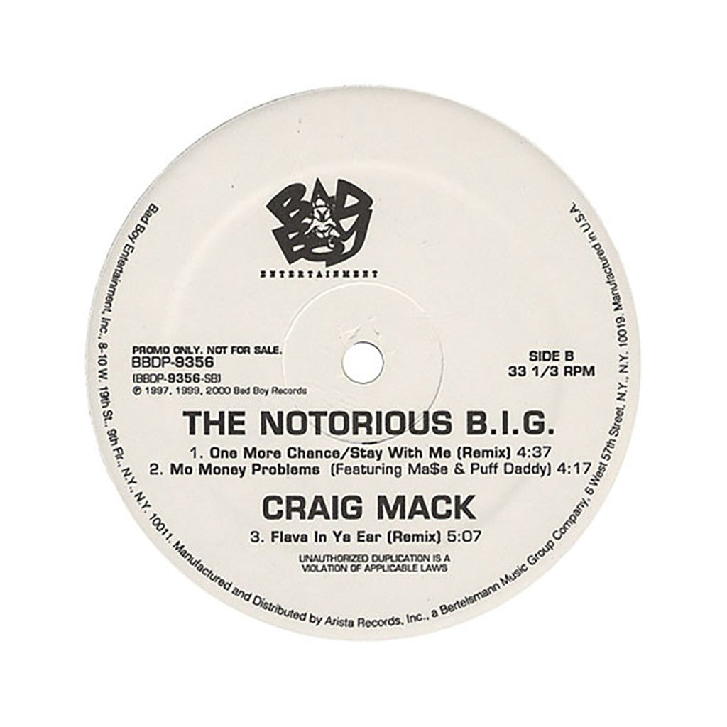 <!--020000101011479-->The Notorious B.I.G. - 'The EP (Who Shot Ya?/ Hypnotize/ Dreams/ One More Chance (Remix)/ Mo Money Mo Problems)' [(Black) Vinyl EP]