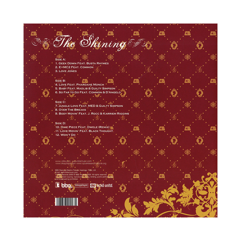 J Dilla - 'The Shining' [(Black) Vinyl [2LP]]