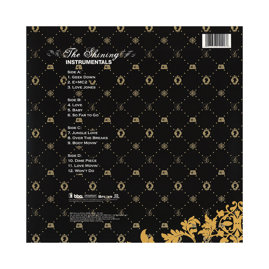 <!--020061003008039-->J Dilla - 'The Shining (Instrumentals)' [(Black) Vinyl [2LP]]