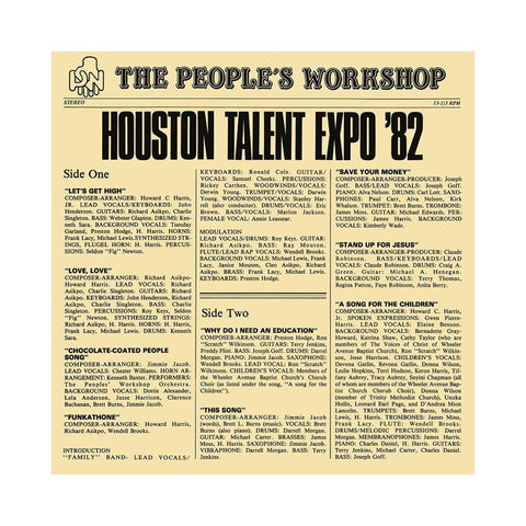 The People's Workshop - 'Houston Talent Expo '82' [(Black) Vinyl LP]
