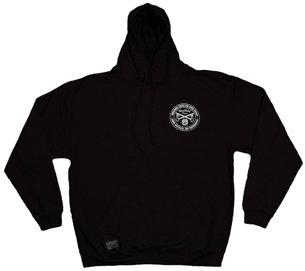 <!--2011101804-->Bloodbath - 'Cursivo' [(Black) Hooded Sweatshirt]