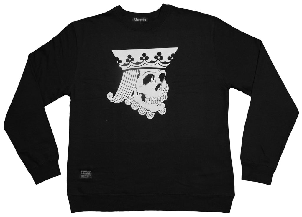 <!--2012111349-->Bloodbath - 'Suicide King' [(Black) Crewneck Sweatshirt]