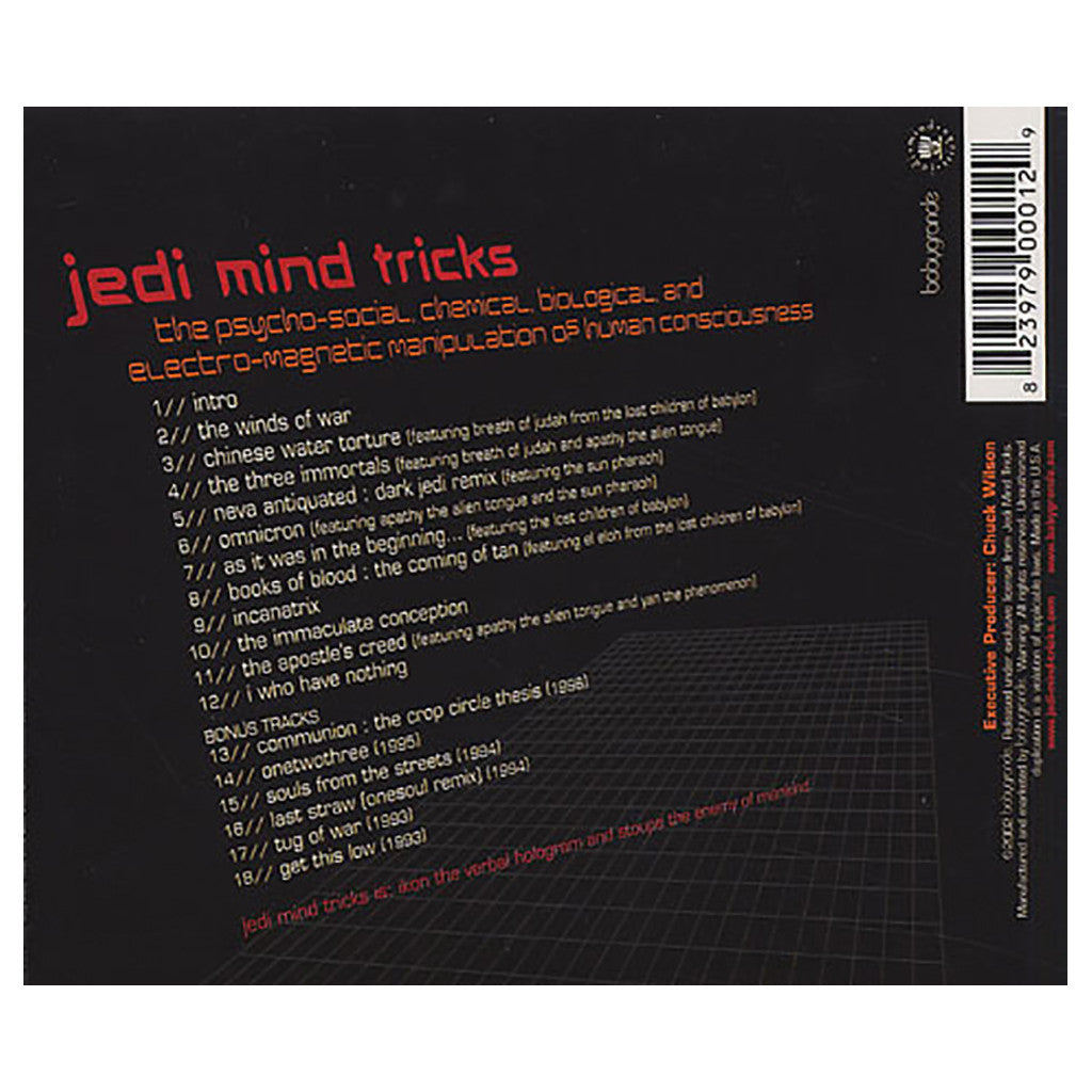 <!--120020702012082-->Jedi Mind Tricks - 'The Psycho-Social, Chemical, Biological, And Electro-Magnetic Manipulation Of Human Consciousness' [CD]