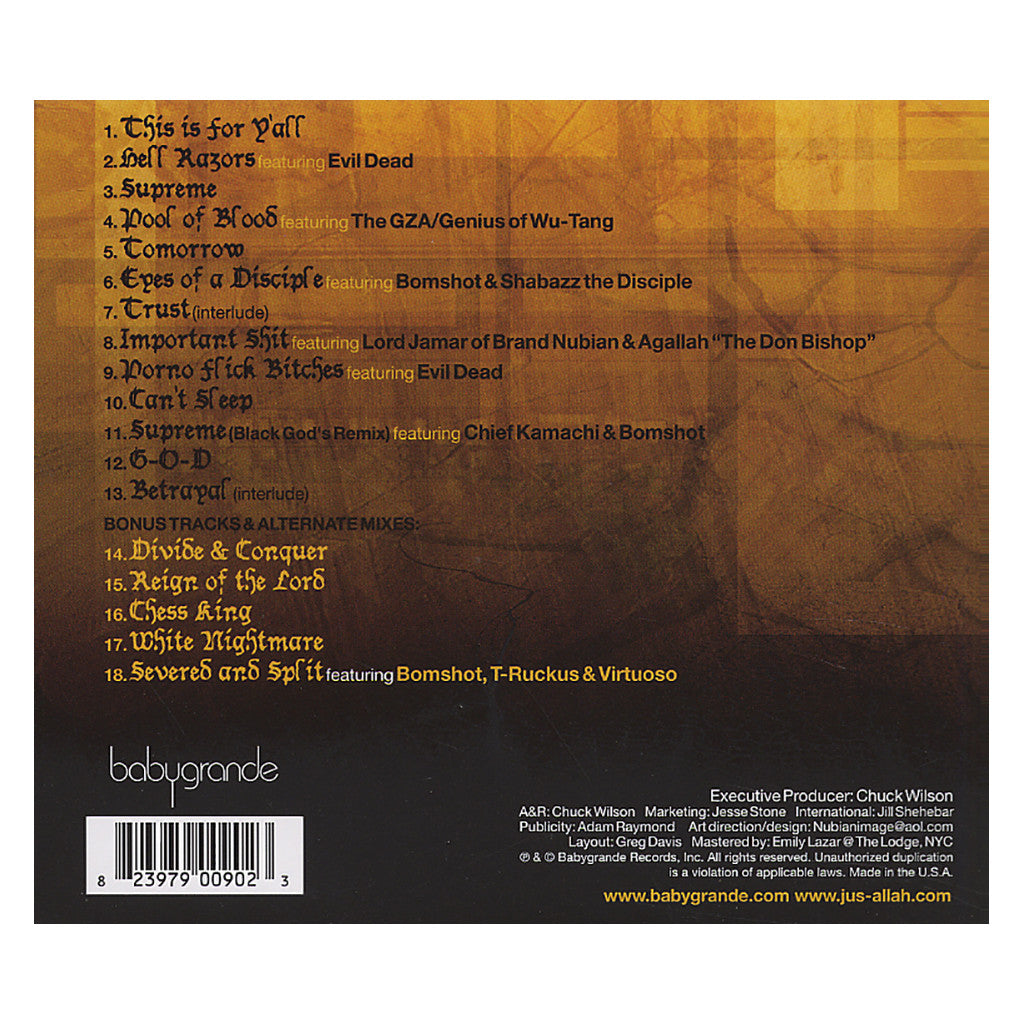 <!--120050607005173-->Jus Allah - 'All Fates Have Changed' [CD]